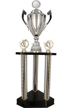 Puchar metalowy piętrowy srebrny DAMARIS 3132 A/P