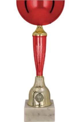Puchar metalowy czerwono-złoty WITO RD 9213