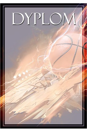 Dyplom papierowy – koszykówka