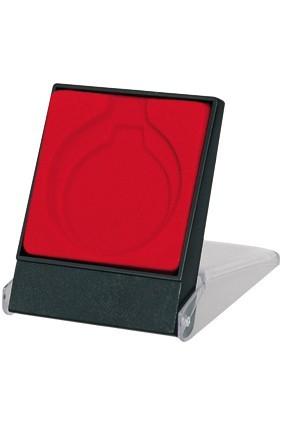 Etui plastikowe czerwone na medal 7×8.9 cm