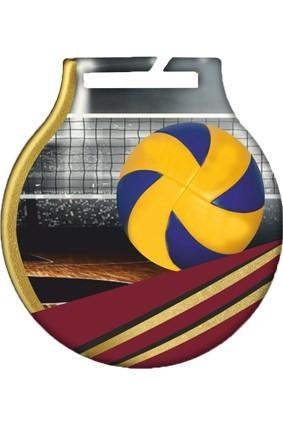 Medal stalowy z usługą Q – SIATKÓWKA