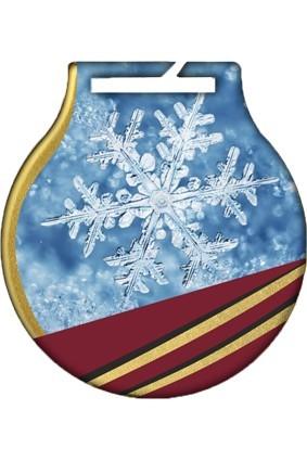 Medal stalowy z usługą Q – ZIMA ŚNIEG