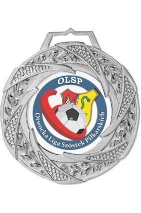 Medal srebrny z nadrukiem kolorowym