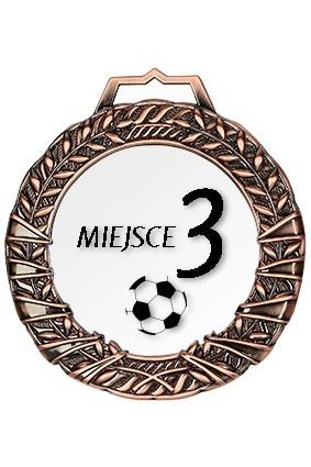 Medal brązowy z grawerem wypełnionym farbą