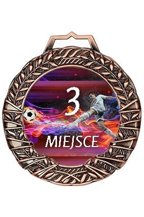 Medal brązowy z nadrukiem kolorowym, grawerem wypełnionym farbą