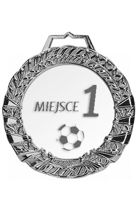 Medal srebrny z grawerem i wypełnieniem farbą