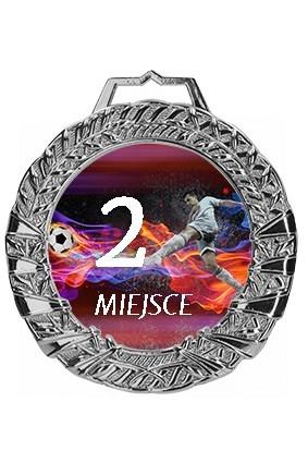Medal srebrny z  nadrukiem kolorowym, grawerem z wypełnieniem farbą