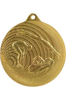 Medal stalowy pływanie 70 mm