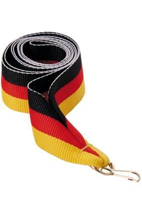 Wstążka 22 mm – czarno-czerwono-żółta