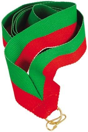 Wstążka 22 mm – zielono-czerwona