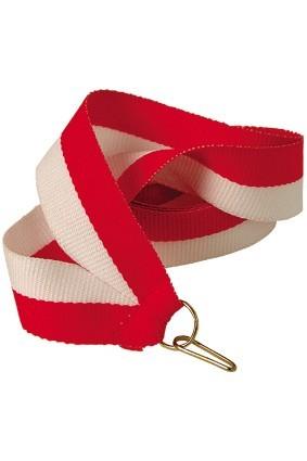 Wstążka 22 mm – biało-czerwona