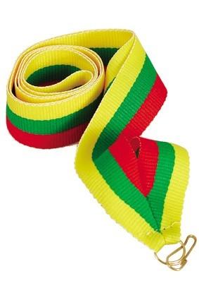 Wstążka 22 mm – żółto-zielono-czerwona
