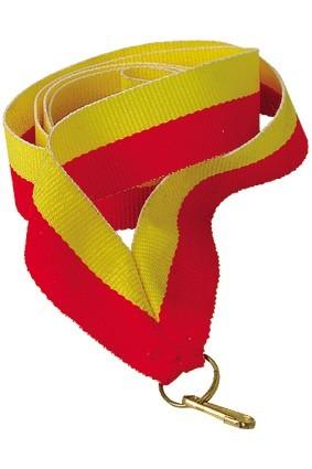 Wstążka 22 mm – żółto-czerwona