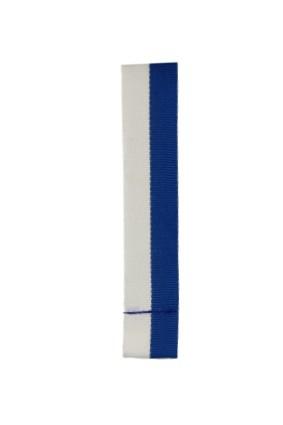 Wstążka 20 mm – biało-niebieska