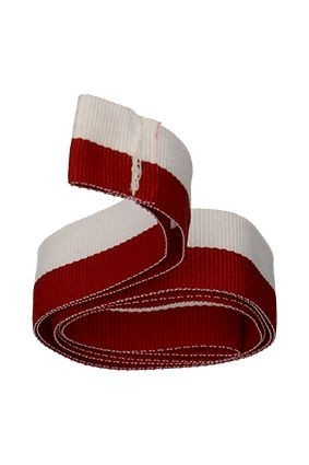Wstążka 20 mm – biało-czerwona