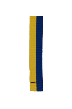 Wstążka 20 mm – żółto – niebieska