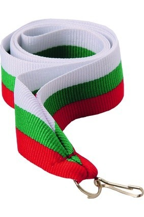 Wstążka 11 mm – biało-zielono-czerwona